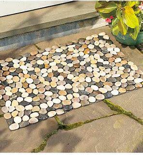 contemporary doormats river rock floor mat contemporary doormats by wind