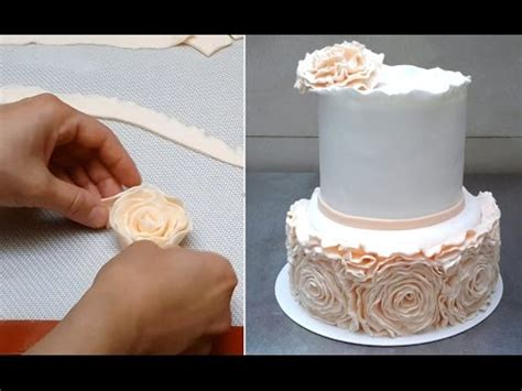 elegant wedding cake   decorar  fondant