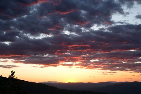 picture dark clouds purple sunset nature