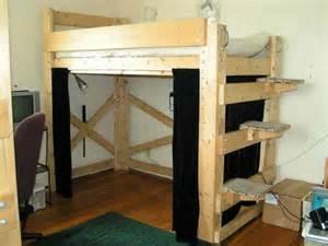Size Loft Bed Plans by 640 X