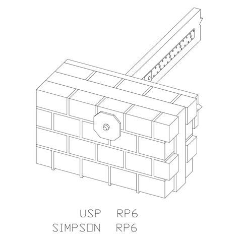 Usp Connectors Deck Designer by Rp Retro Plate U S Usp Structural Connectors