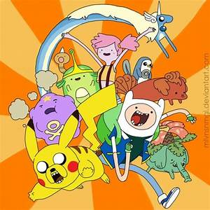 pokemon crossover fanart