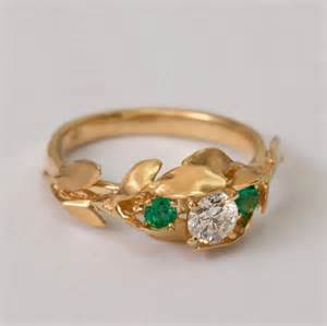 no engagement rings leaves engagement ring no 8 14k gold and engagement ring 3 ring three ring