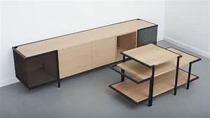 Meuble Acier Bois : mirage meuble de bois cercl d acier par le studio hekla bed ~ Teatrodelosmanantiales.com Idées de Décoration