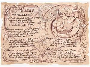Geburtstagsgeschenk Für Mutter : kunstbild auf antikpapier im a4 format geschenk f r die mutter online geschenkeshop mit ~ Orissabook.com Haus und Dekorationen