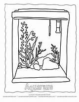 Aquarium Coloring Fish Tank Clipart Drawing Seaweed Tropical Colouring Ausmalbilder Clip Outline Blank Popular Colorear Votos sketch template