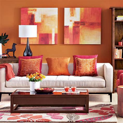 modern orange living room decorating ideal home