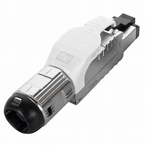 Cat6a Field Terminable Plug For Solid    Stranded Wire