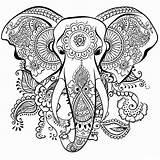 Coloring Adult Elephant Worksheets Via sketch template