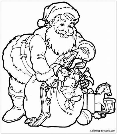 Trendy Pages Santa Claus Coloring Christmas Printable