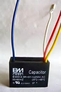ceiling fan capacitor cbb61 4uf 4 5uf 5uf 4 wires ebay