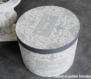 Boite Cadeau Ronde : boite ronde cadres et petites bricoles ~ Teatrodelosmanantiales.com Idées de Décoration