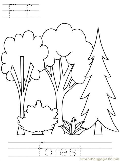 forest coloring pages    print