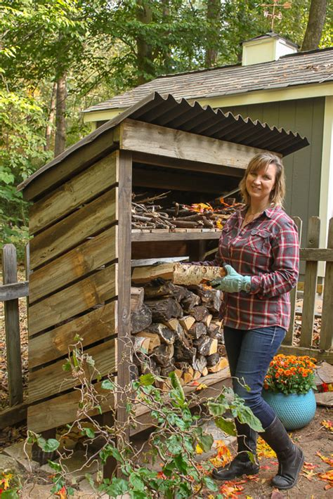 build  wood storage shed pretty handy girl