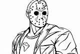 Jason Coloring Voorhees Friday 13th Drawing Printable Dibujos Freddy Dibujar Deviantart Resultado Imagen Mask Horror Scary Guardado Desde Visitar Sketch sketch template