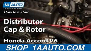 How To Install Replace Distributor Cap And Rotor Honda Accord V6 95-97 1aauto Com