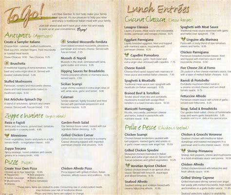 olive garden menu prices 7 best images of olive garden menu printable out olive
