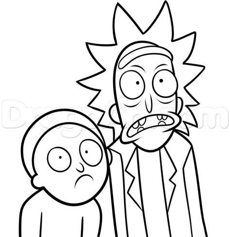 draw rick  morty step  step cartoon network