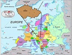 Map of Europe with Prague and Czech Republic | What to see ...