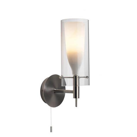 dar lighting boda bod0746 satin chrome double glass wall light