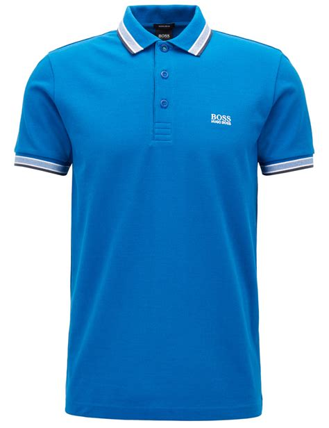 poloshirt hugo herren polo shirt hugo 171 paddy 187 blau