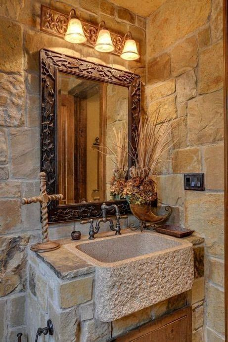 dramatic rustic bathroom design ideas rustic