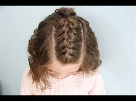 single french braid  short hair cute girls