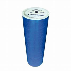 cylinder donation tube charity collection boxes With floor standing charity collection boxes