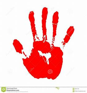 Red Hand Print Clip Art Pictures to Pin on Pinterest ...