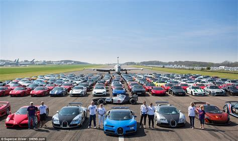 Spectacular Photo Of 200 Top Of The Range Vehicles