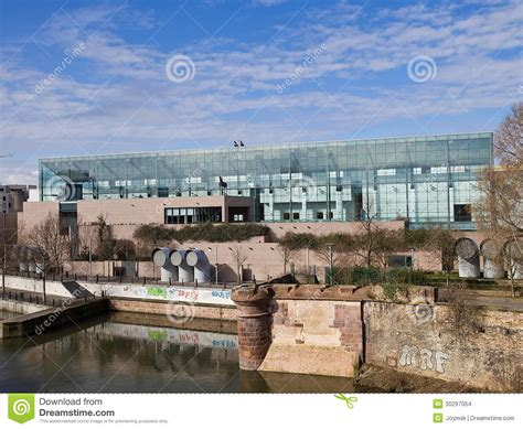 restaurant musee d moderne strasbourg museum of modern and contemporary of strasbourg stock images image 30297054