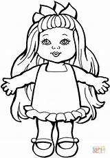 Colorare Bambole Doll Coloring sketch template