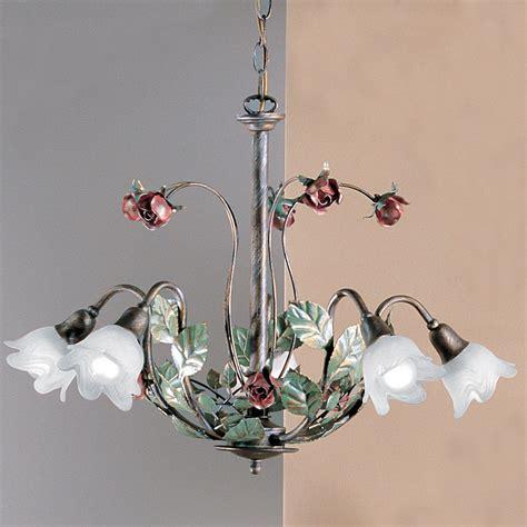 floraler florentiner kronleuchter zur tischbeleuchtung im