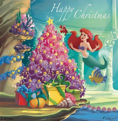 mermaid christmas disney winter xmas disney