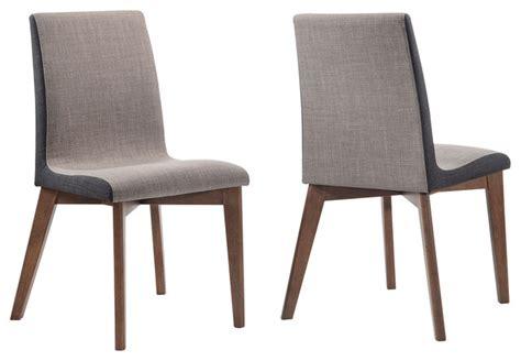 sammy fabric upholstered side chairs walnut wood legs