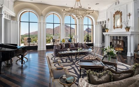 million newly built mansion  paradise valley arizona   car garage homes   rich