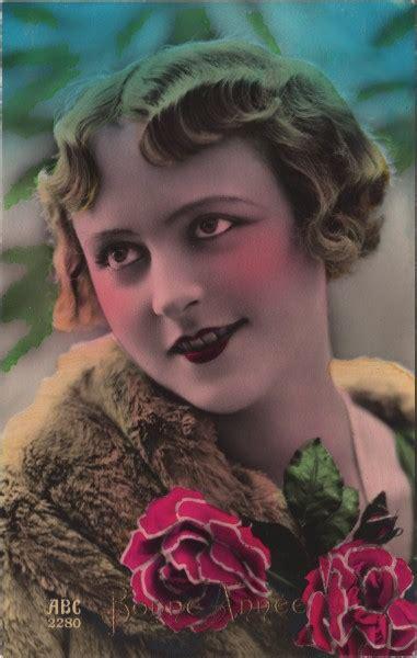 beautiful tinted lady postcard  graphics fairy
