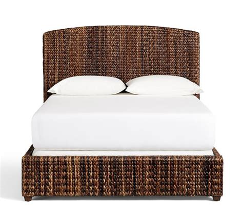 seagrass bed headboard pottery barn