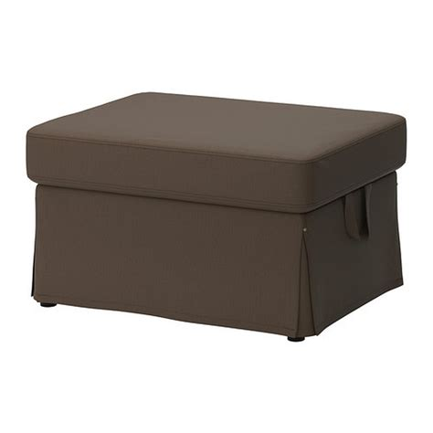 And Ottoman Covers by Ikea Ektorp Footstool Cover Ottoman Slipcover Jonsboda Brown