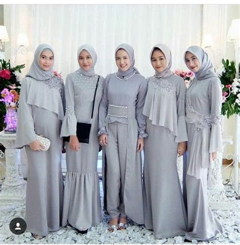 baju pesta muslim pasangan 46 model baju muslim pesta modern brokat terbaru 2018
