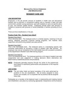 Aide Description Resume by Sle Resume For Dietary Aide Great Free Resumes