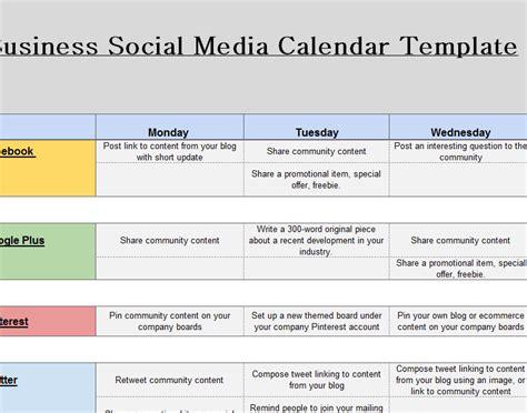 social media marketing calendar  excel templates