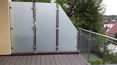 Balkonverkleidungen Aus Glas by Glas Sichtschutz F 252 R Balkon Garten Terrasse Meitinger
