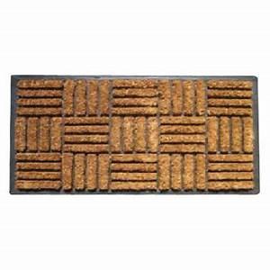 Tapis Caoutchouc Castorama : tapis caoutchouc grattant damier 45 x 75 cm castorama ~ Melissatoandfro.com Idées de Décoration