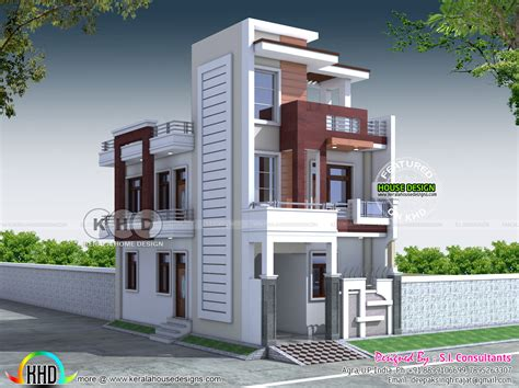 20x40 Contemporary Indian Home Design  Kerala Home Design