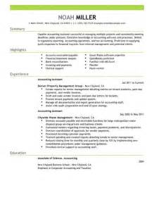 resume of accountant assistant best accounting assistant resume exle livecareer