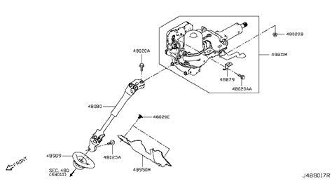 Seal Steering Diagram by 48989 4ba0b Genuine Nissan Parts