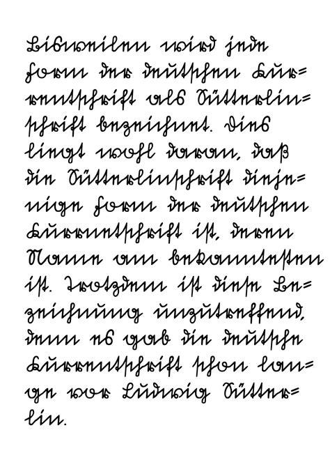 Modern german handwriting