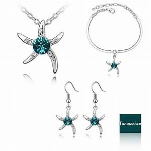 Fashion Crystal Jewelry Set Silver Plated Sale At Breakdown Price
