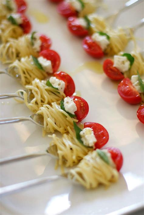 cheap canapes recipes appetizer one bite of pasta the bite